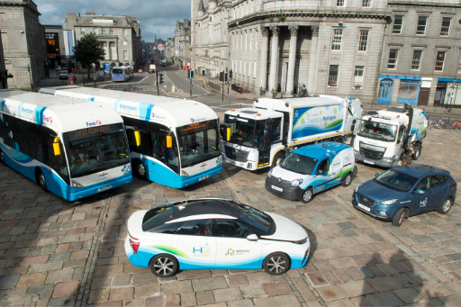 Image of hydrogen powered vehicles
